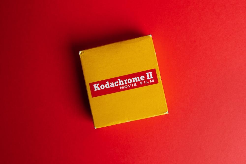 yellow and red cardboard box
