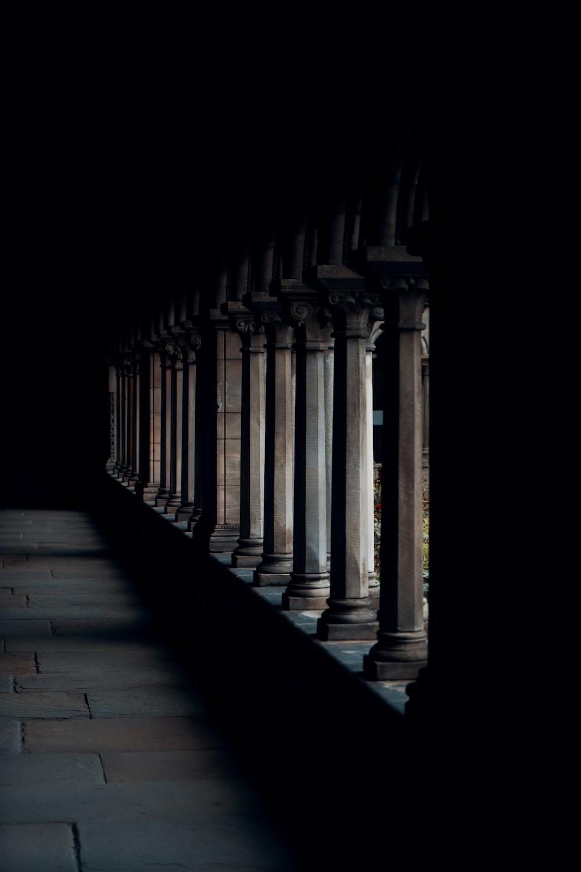 white concrete pillars during daytime