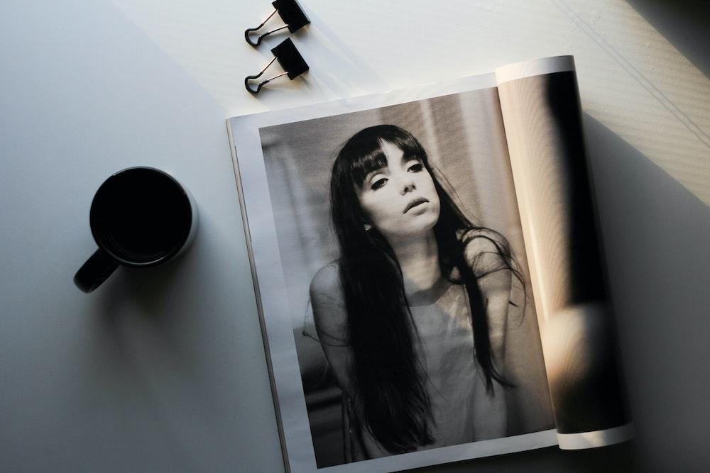 woman in black dress photo