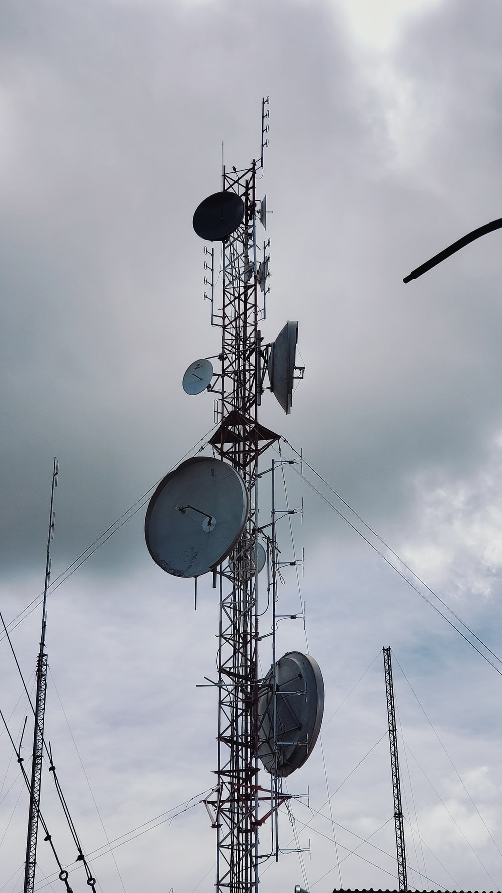 black and white satellite dish