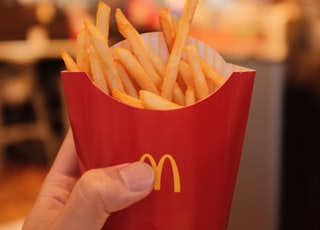 mcdonalds fries in red mcdonalds fries cup