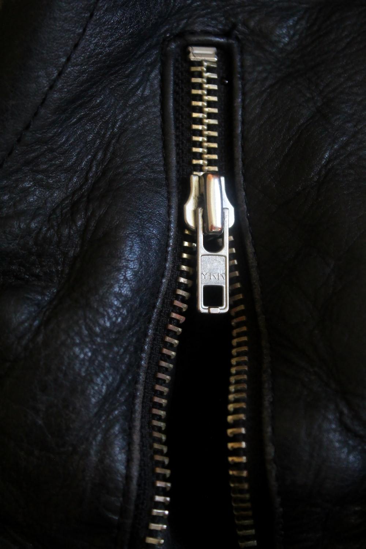 black and white zip up jacket