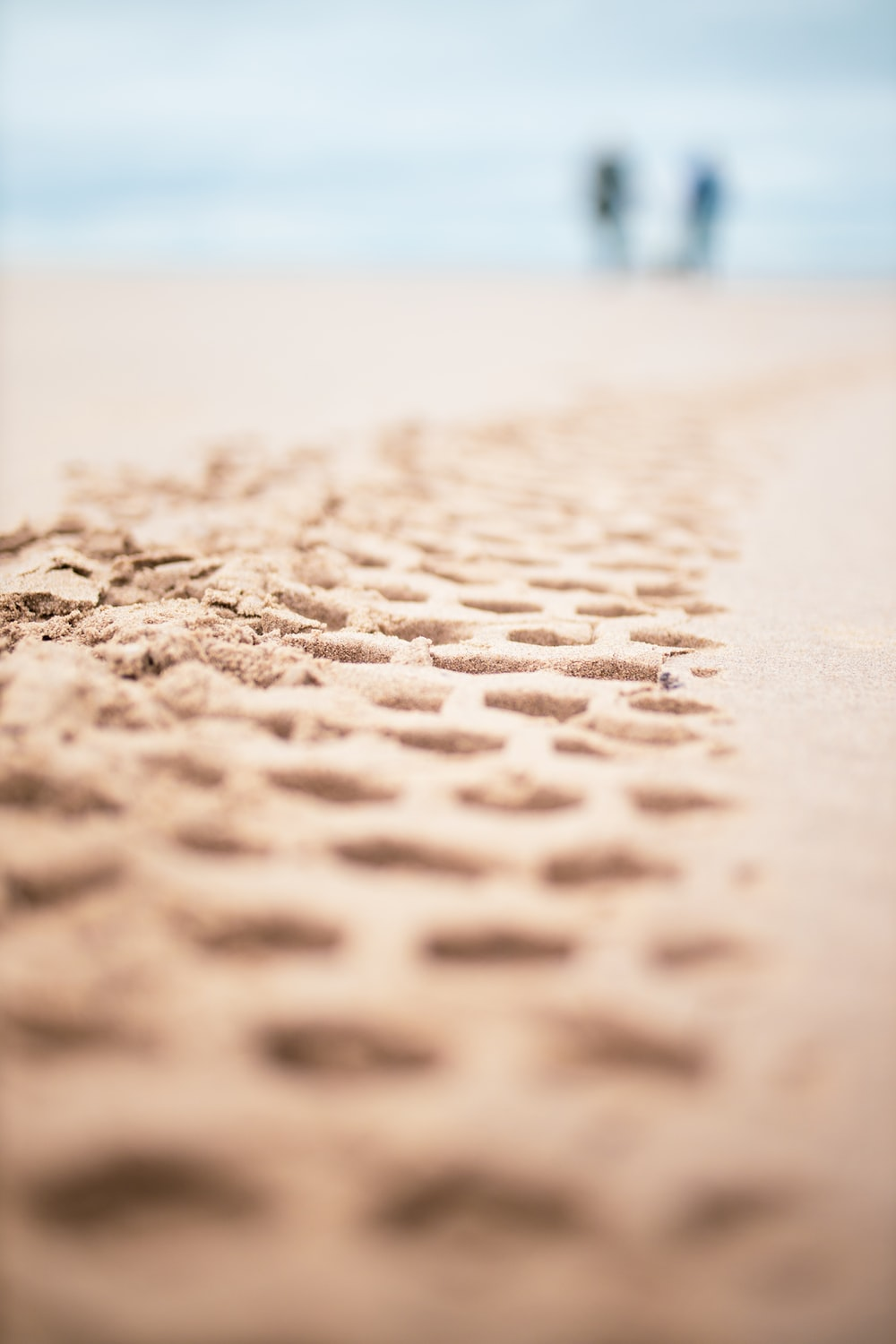 sand with water droplets during daytime
