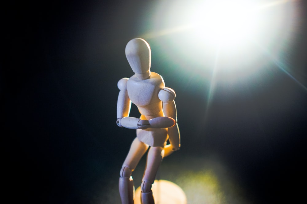 white human form action figure
