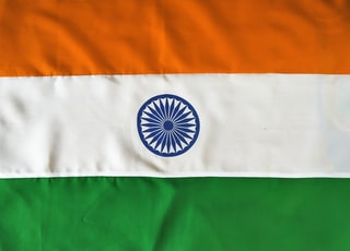 Indian tricolor flag on 15th August independence day of India