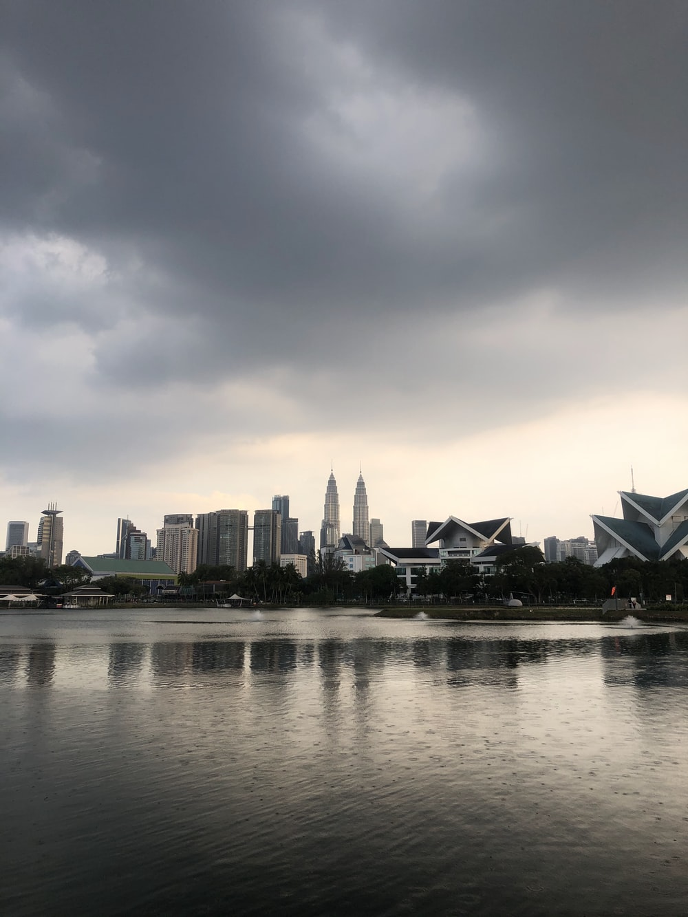 city skyline under cloudy sky during daytime