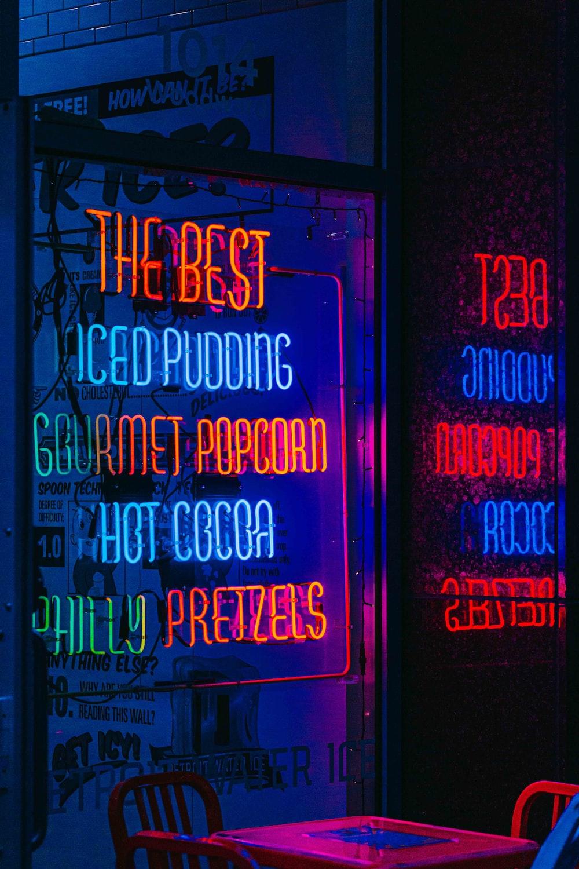 happy birthday to you neon light signage
