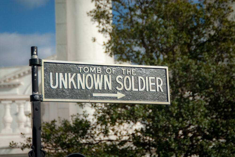 Tomb of the Unknown Soldier in Arlington, Virginia