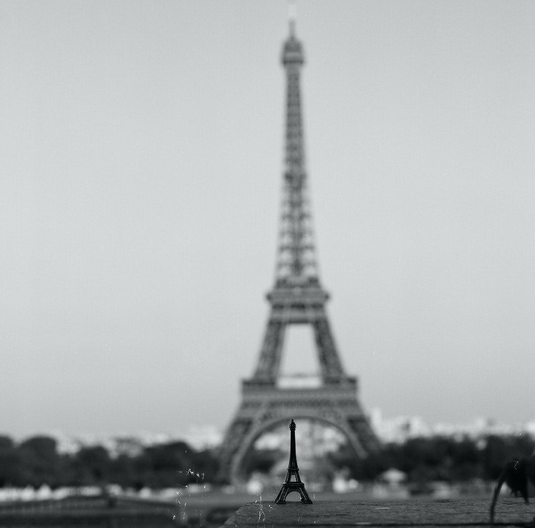 Grayscale Photo of Eiffel Tower - unsplash