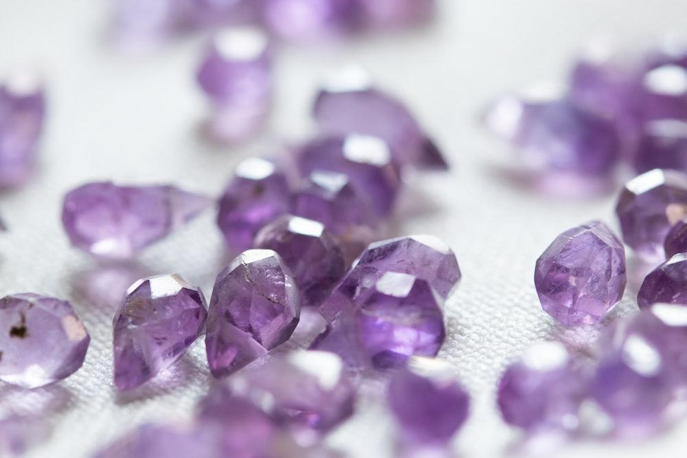purple petals on white textile