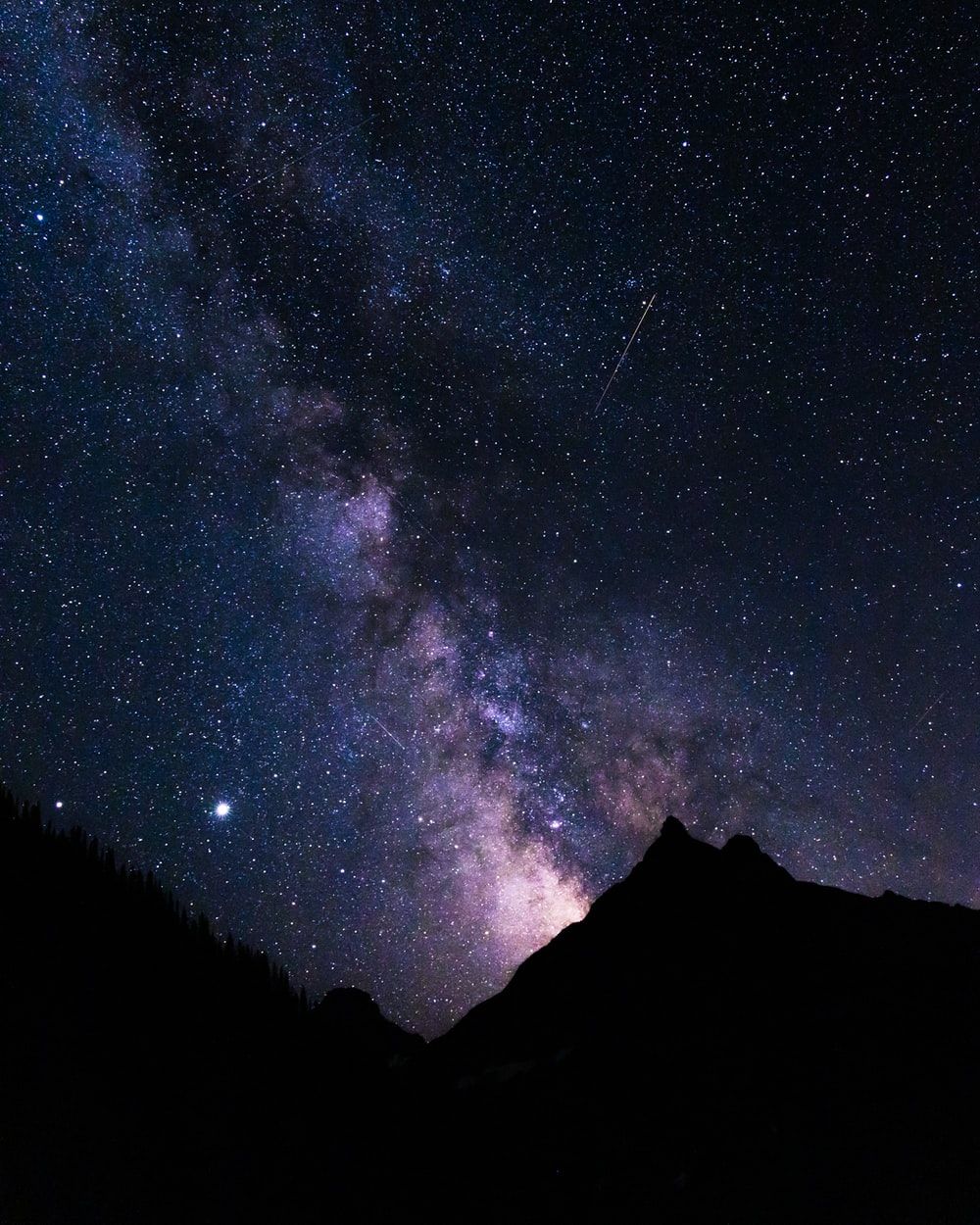 starry night over the mountain