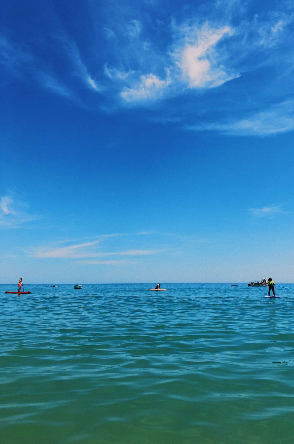 people in sea under blue sky during daytime