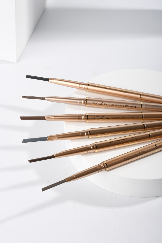 gold and silver makeup brush set