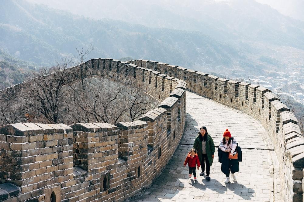 people walking on concrete brick wall during daytime
