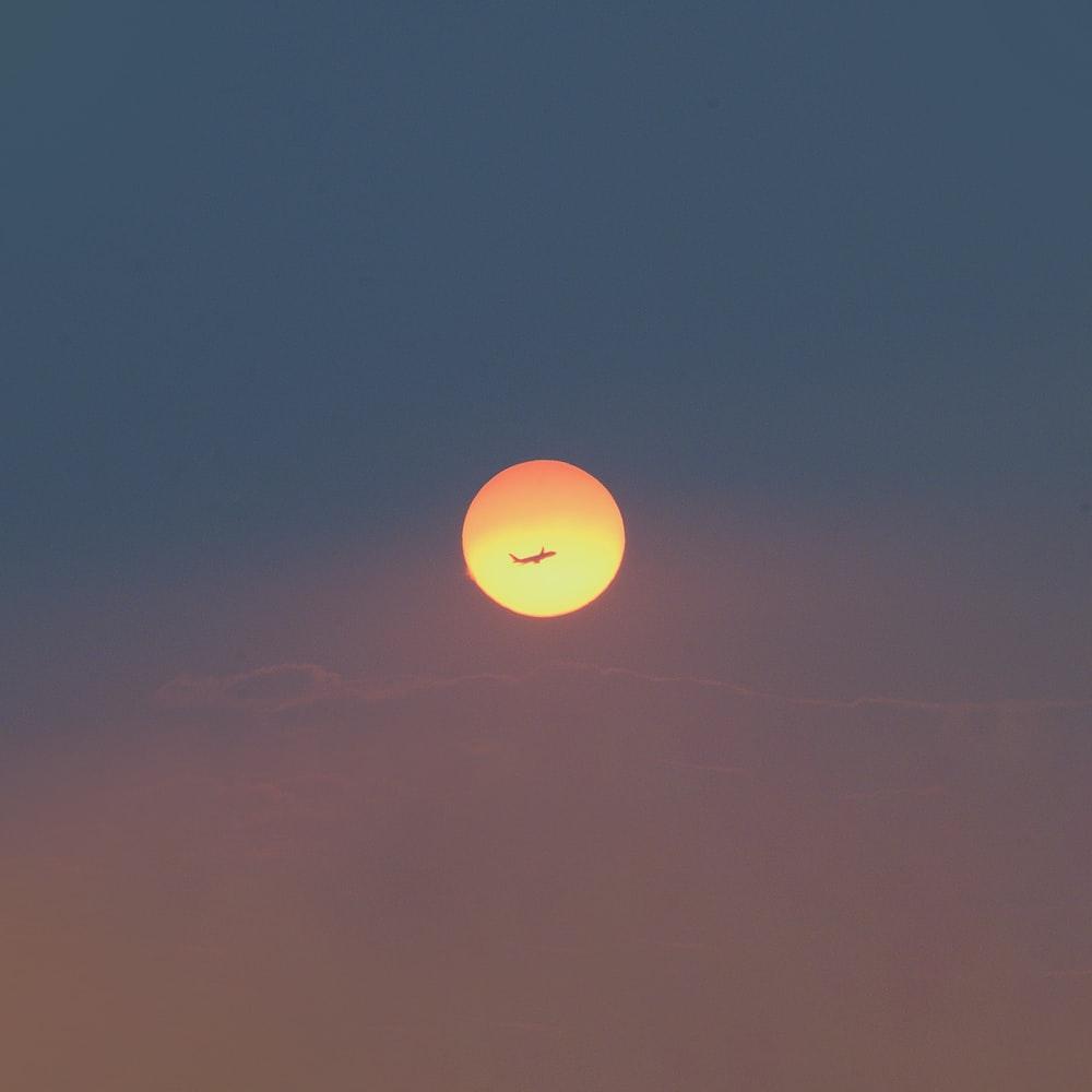 full moon over the sky
