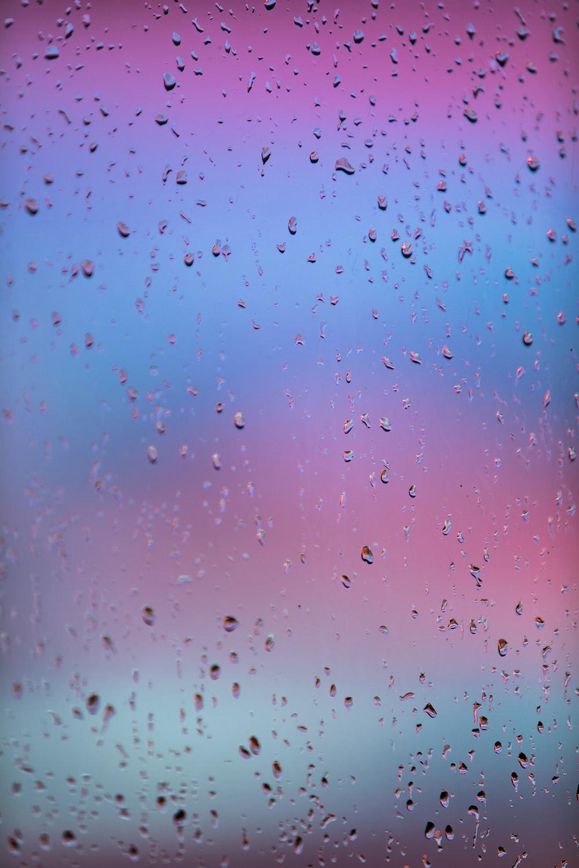 water droplets on glass window
