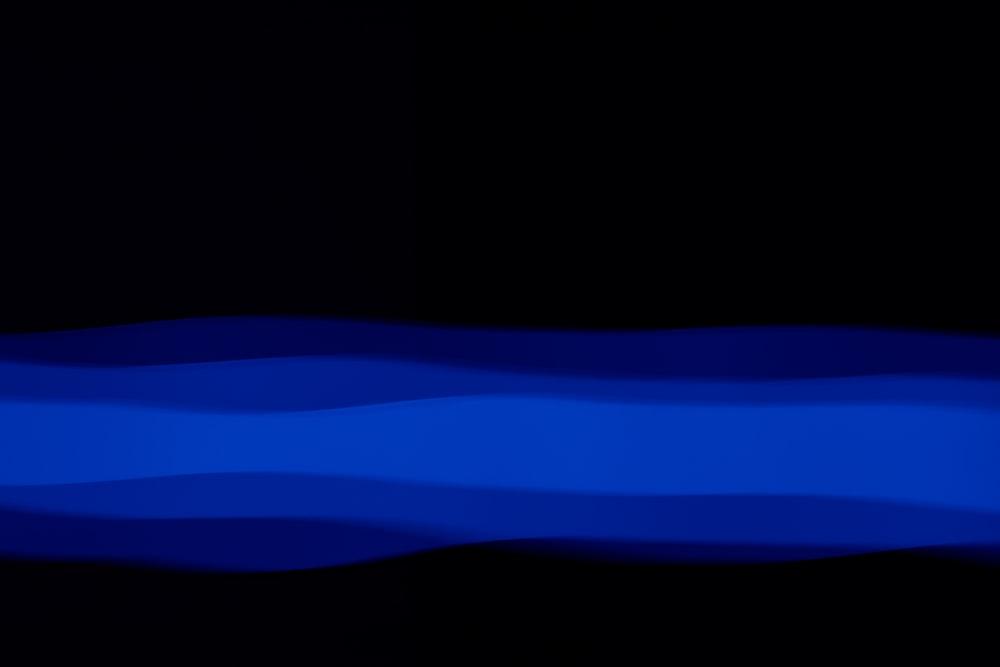 blue light on white background