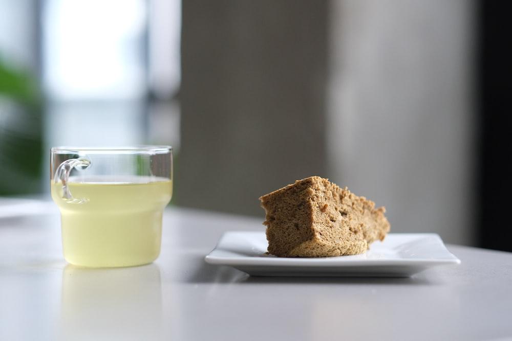 sliced bread on white ceramic plate