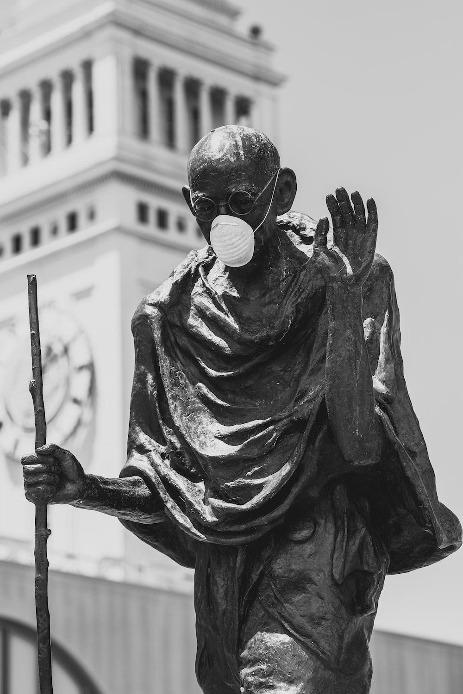 man in black sunglasses statue