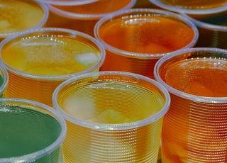 colorfull jell-o cups