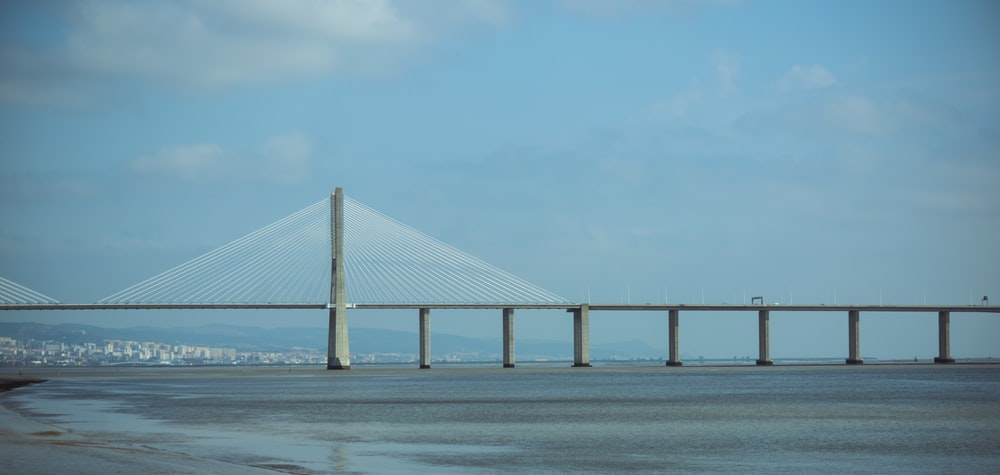 white bridge over the sea during daytime