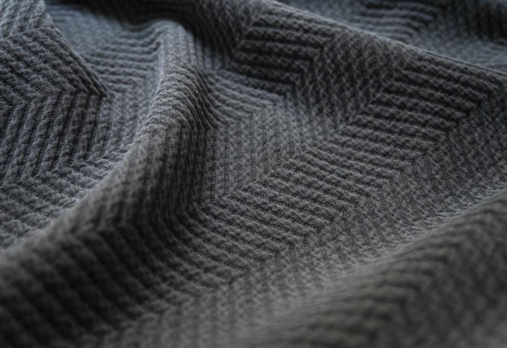 gray and black chevron textile