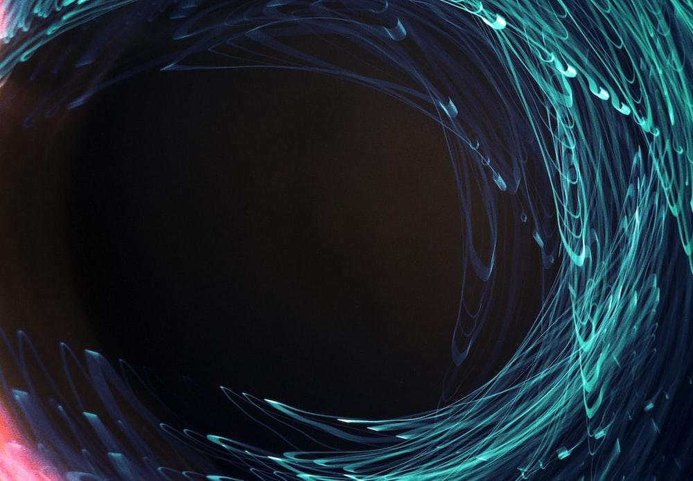 blue and white light digital wallpaper