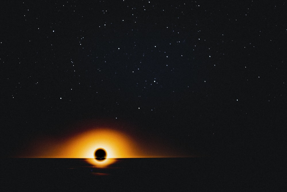sun in the sky during night time