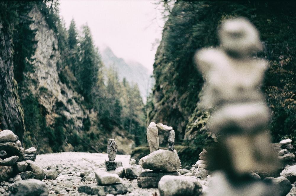 gray stone on gray rock