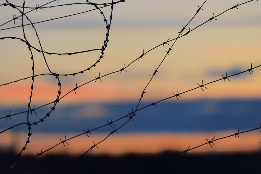 black barbwire in close up photography during daytime