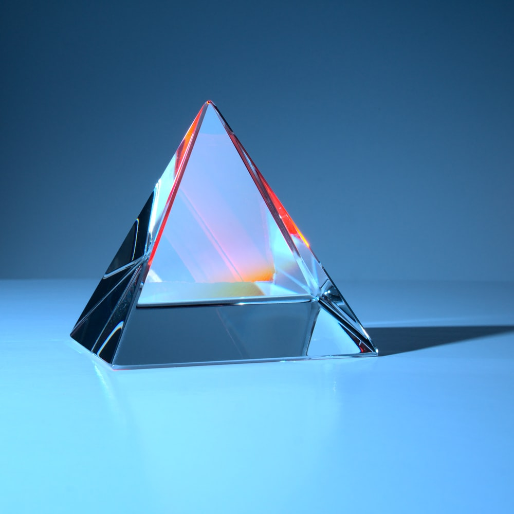 black and red triangle illustration