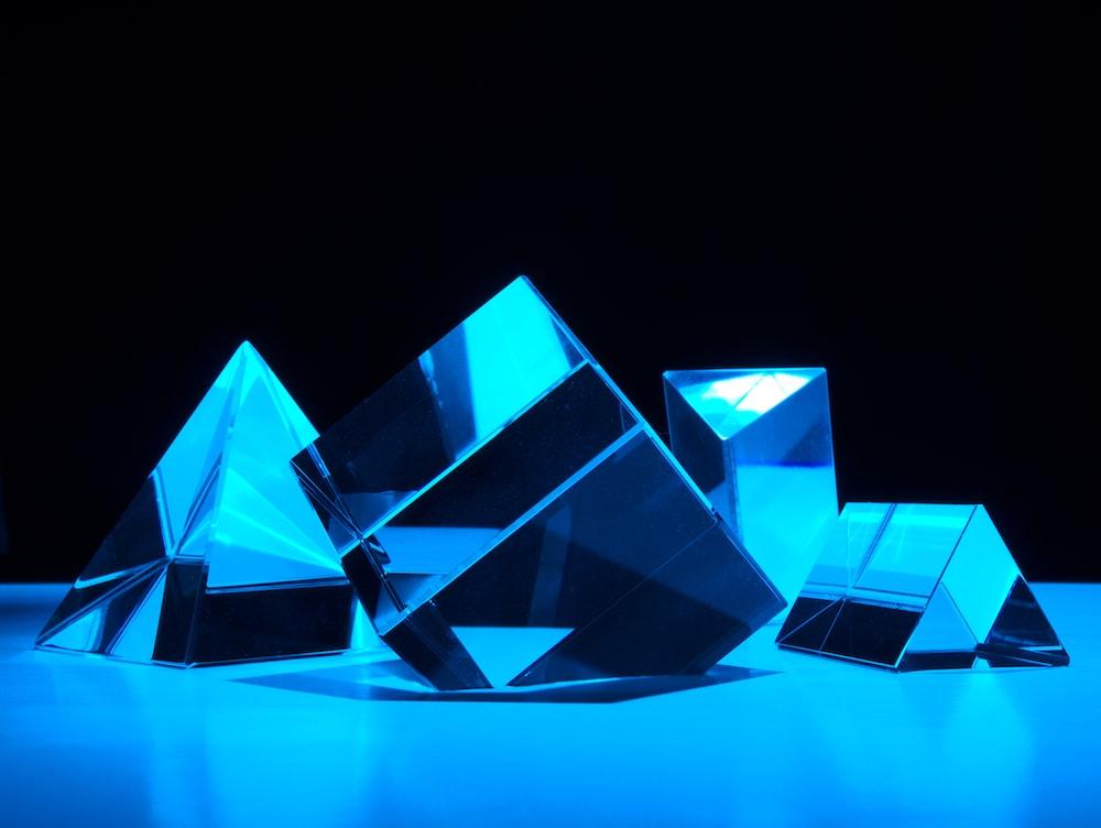 blue and white diamond illustration