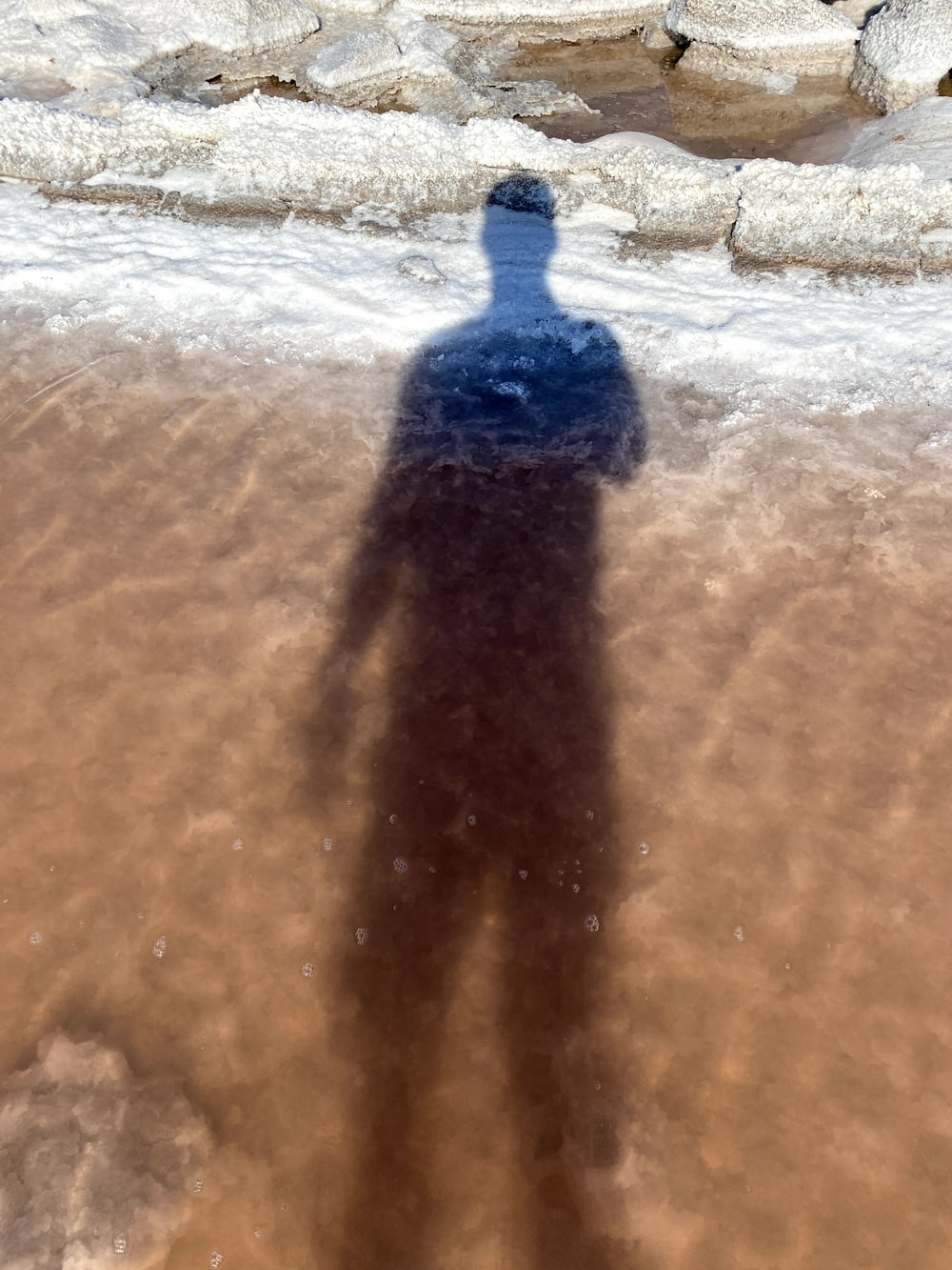 person in blue shirt walking on brown sand during daytime