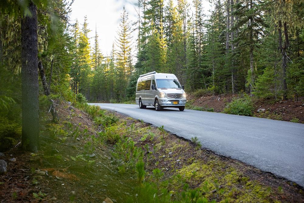 white van on road during daytime