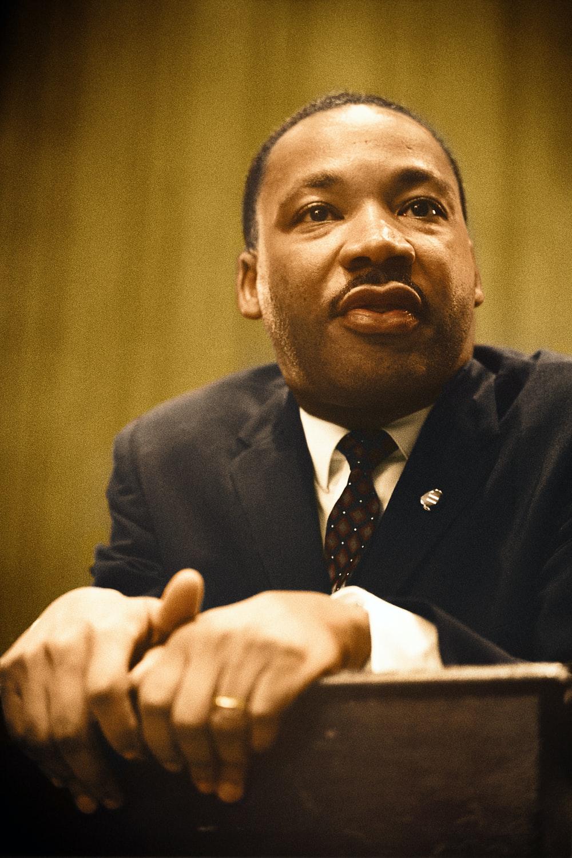 Dr. Martin Luther King, Jr. gives a speech