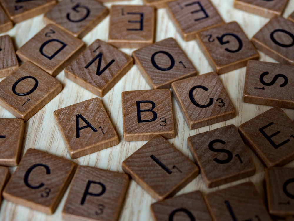 brown wooden blocks with number