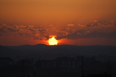 silhouette of mountain during sunset kosovo zoom background