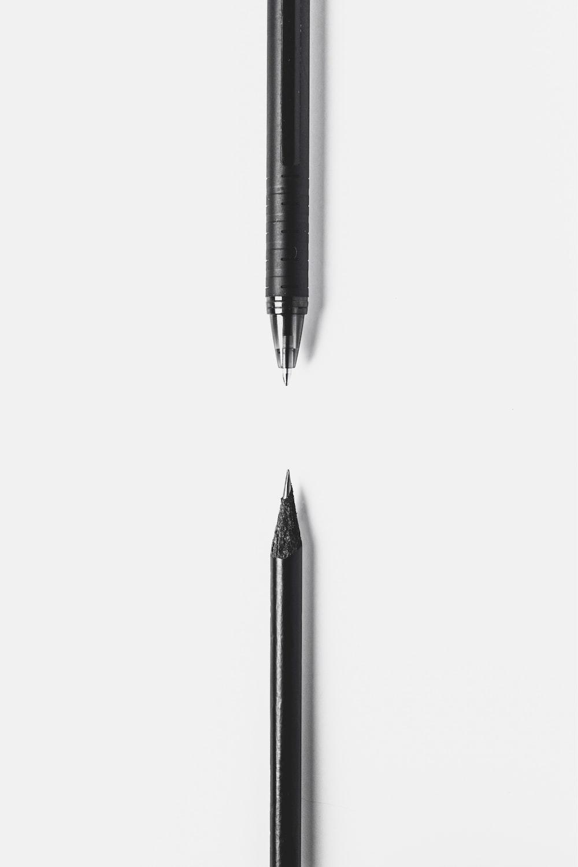 black pen on white surface