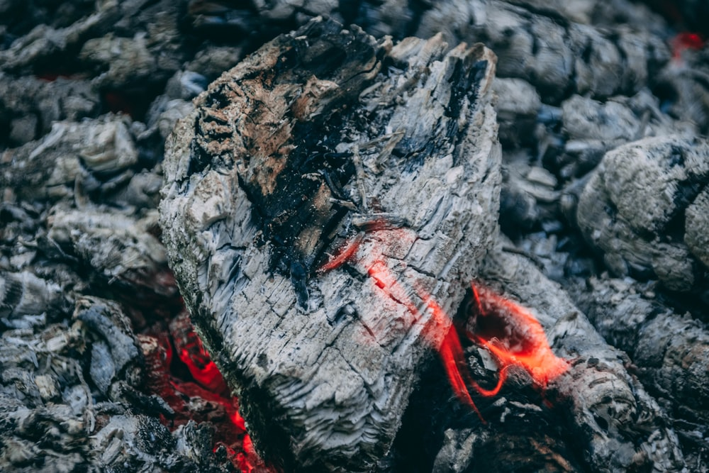 red rope on gray rock