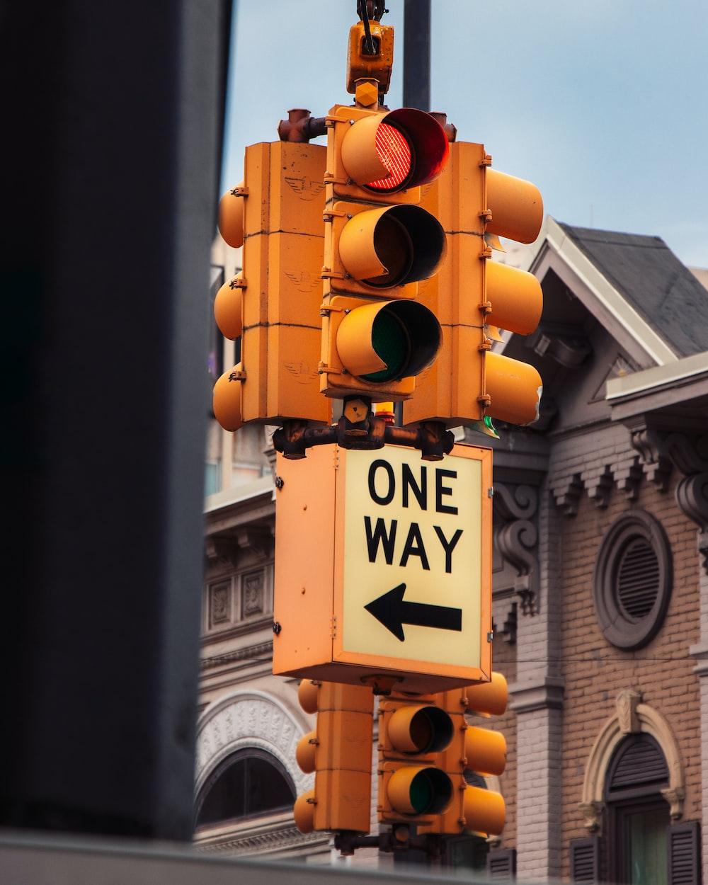 black and white traffic light
