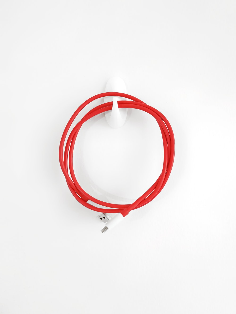 red and white spiral ring
