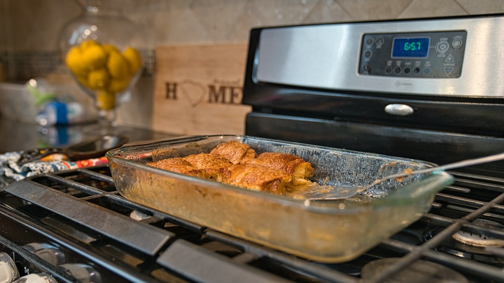 fried chicken on stainless steel tray