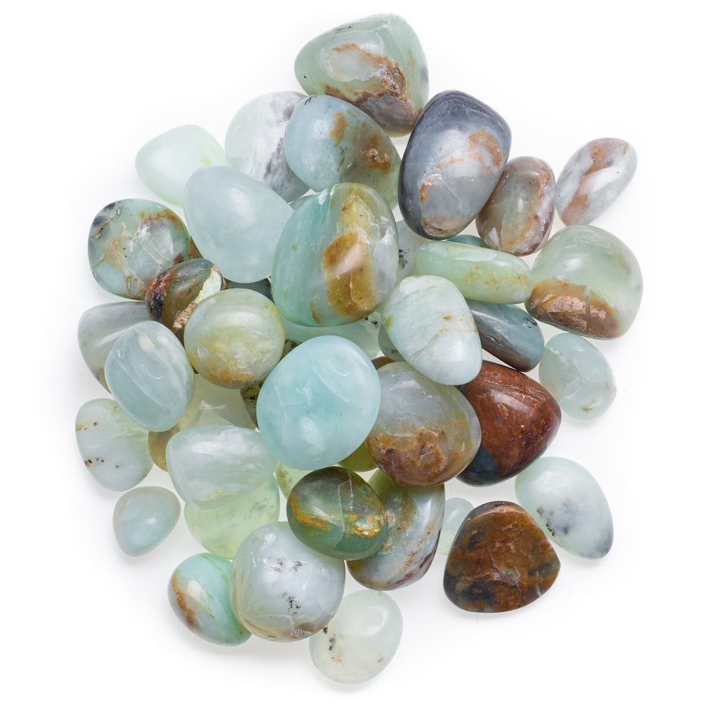 white green and brown stones