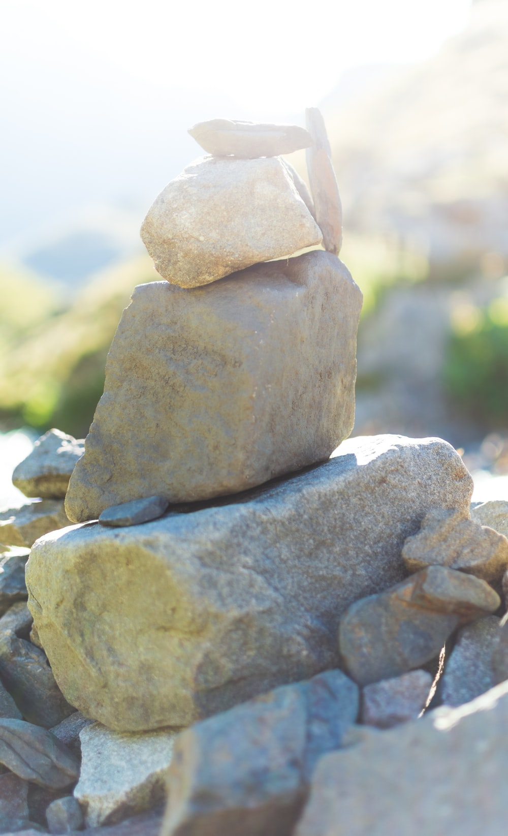 brown rock in close up photography