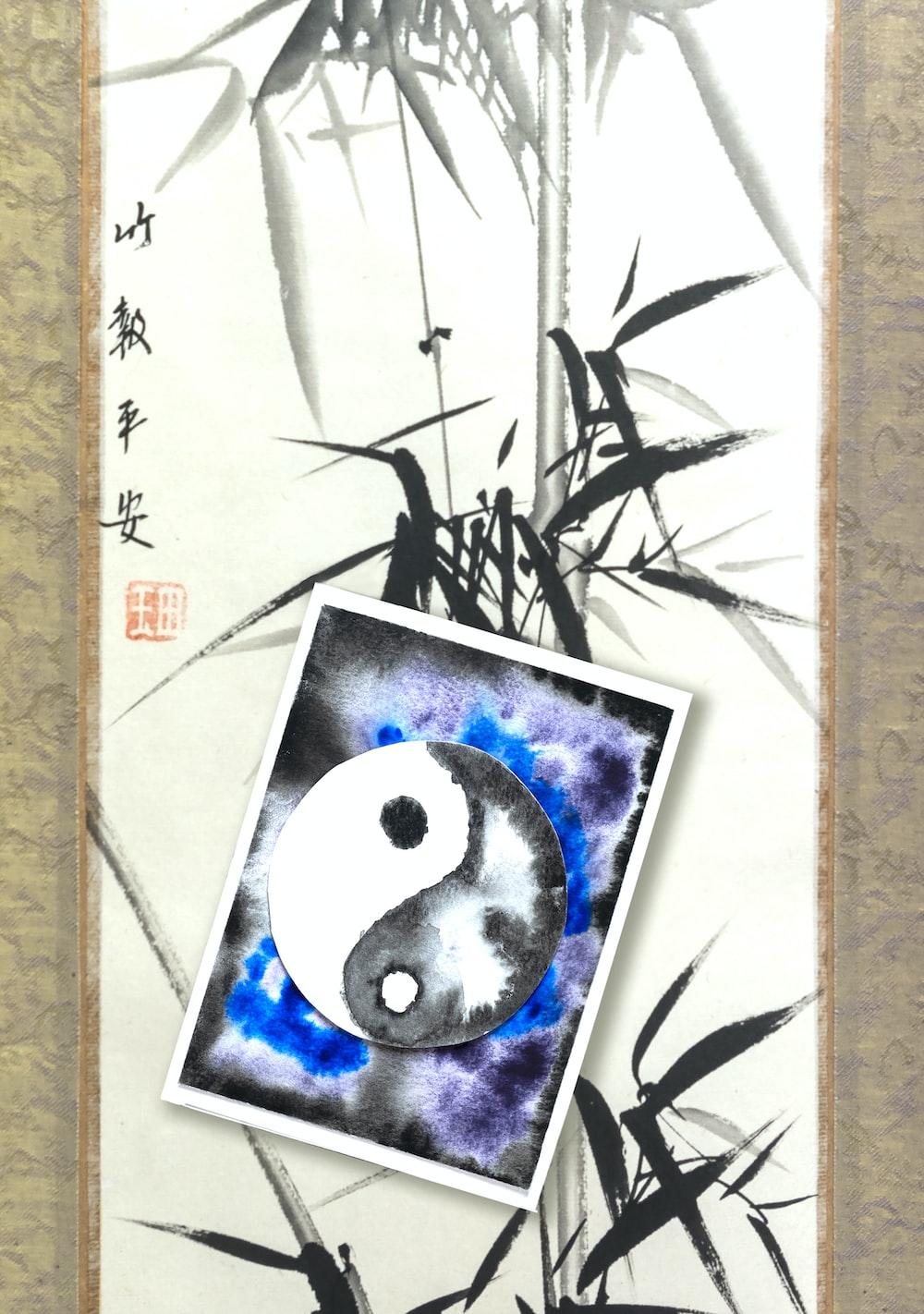 black and white panda illustration