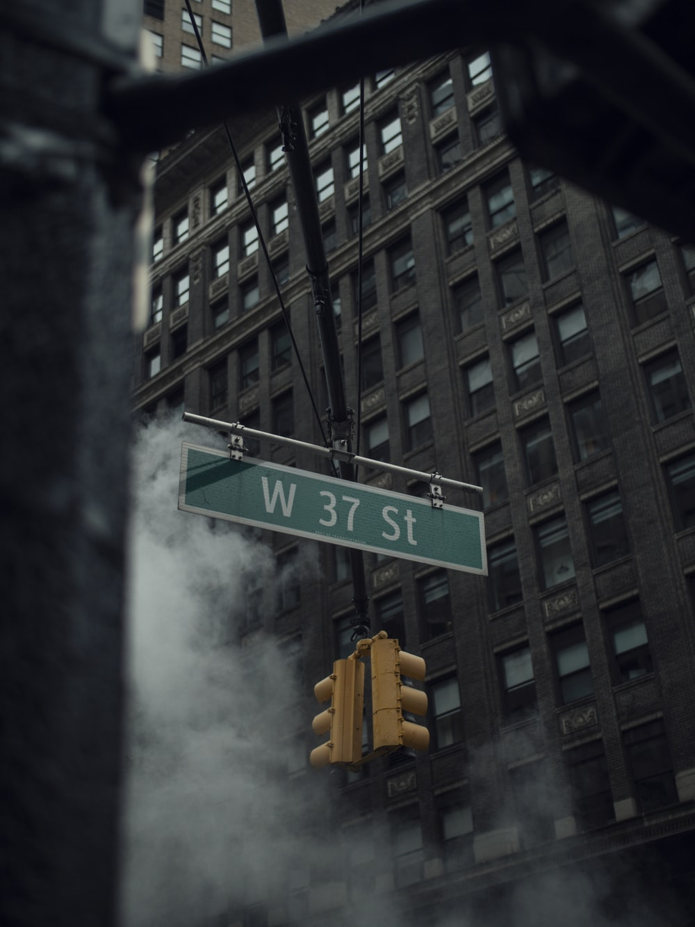green and white street sign