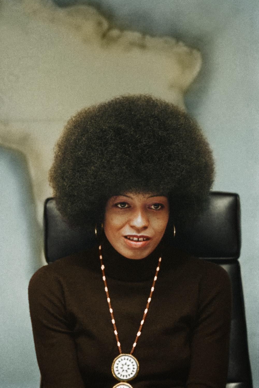 A portrait of Angela Davis