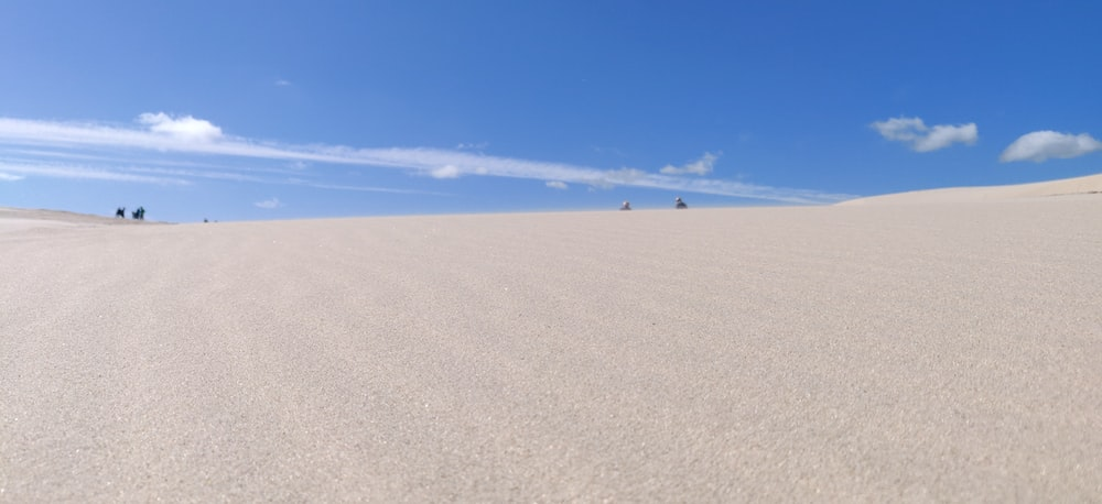 people walking on white sand under blue sky during daytime