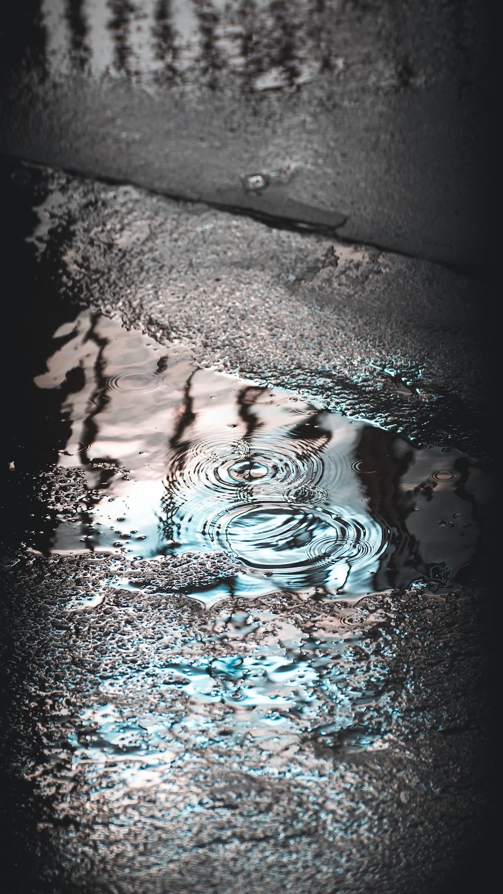 water splash on brown sand