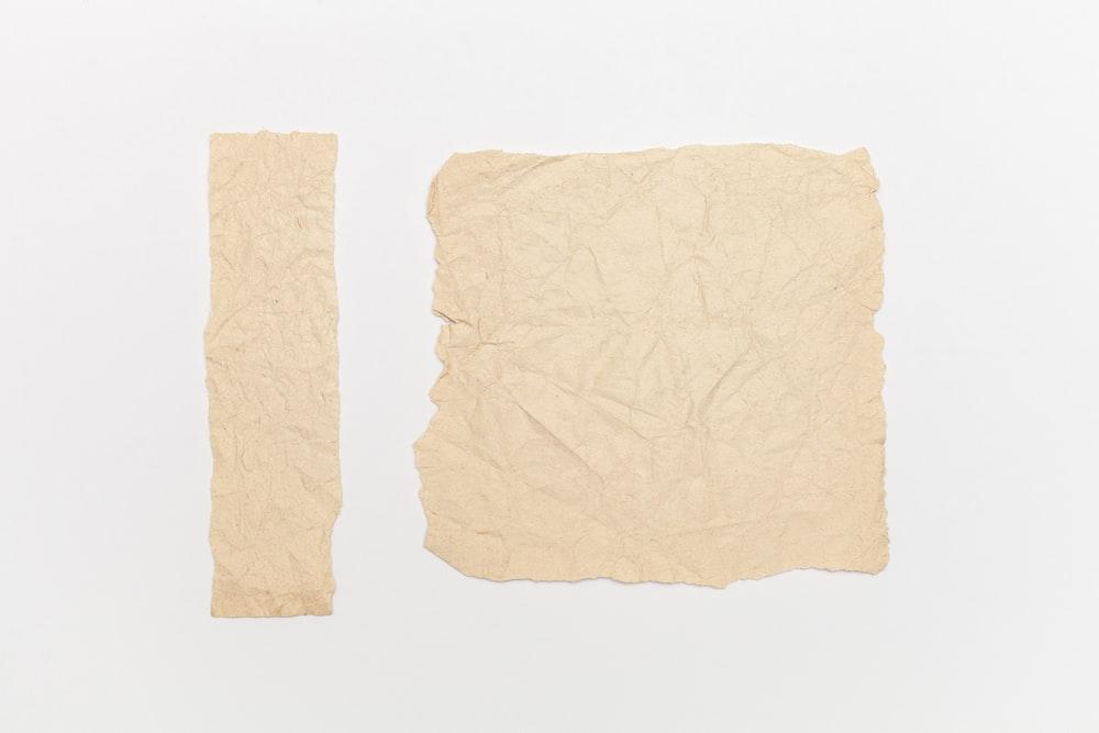 brown textile on white background